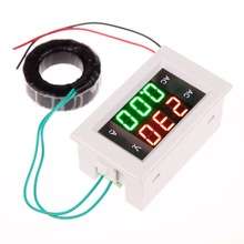 E#TN LCD Digital Voltmeter Ammeter AMP Current Voltage Meter Panel Black Free Shipping
