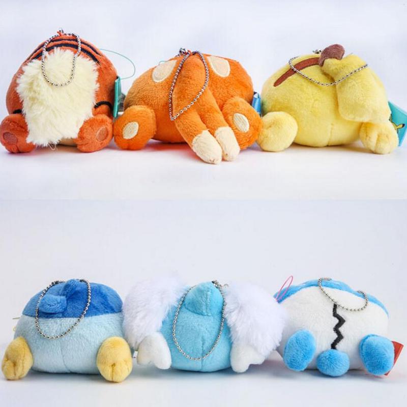 2016 Anime Cartoon Pikachu Plush Toys Slowbro Charmander Mudkip Umbreon Espeon Soft Stuffed Toys with Keychain(China (Mainland))