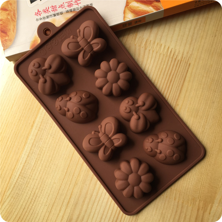 Cake baking mold silicone Chocolate Mold bee butterfly beetle hand soap - Z&W1988 store