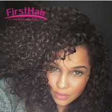Mongolian Kinky Curly Hair With Closure 4 Bundles 7A Afro Kinky Curly Virgin Hair With Closure Deep Curly Bundles With Closure(China (Mainland))