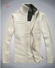 2016 Brand New Men's cotton sweater zipper long sleeve wool sweater men Low price knitwear mens sweaters pull homme 90(China (Mainland))