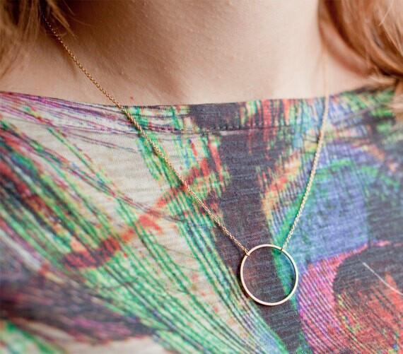 Новый дизайн моды бренд ювелирных позолоченный ожерелье & простой круг ключицы цепи ожерелье для женщин