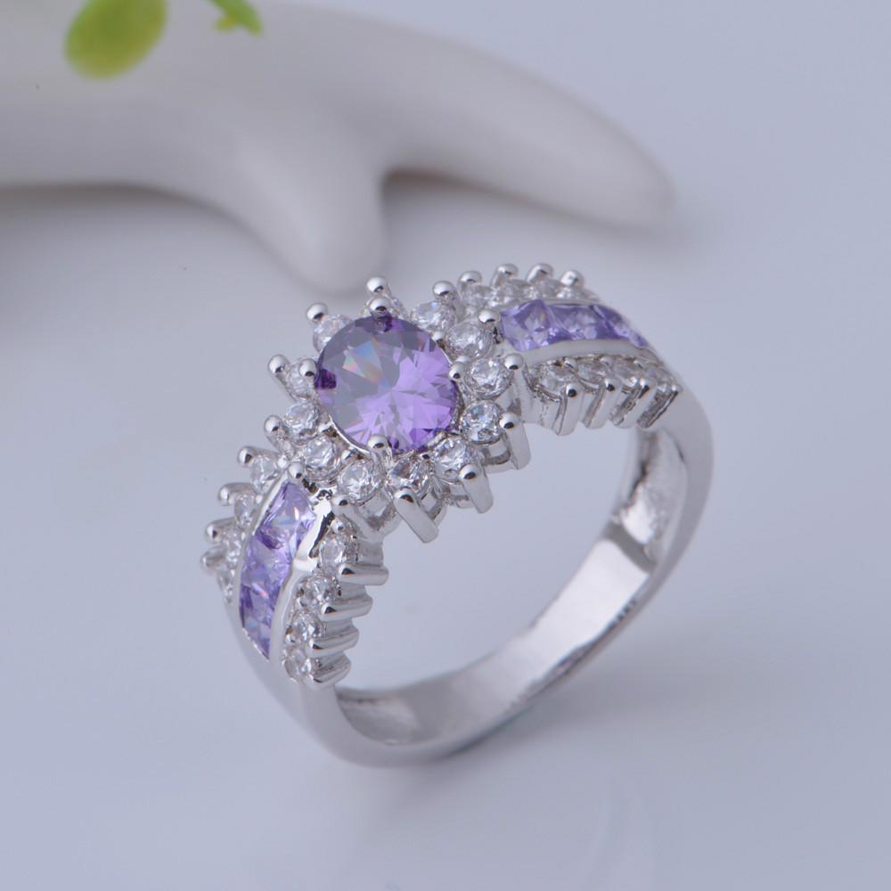 Big Cheap Wedding Rings: 925 Sterling Silver Ring Zircon Luxury Women Wedding Set