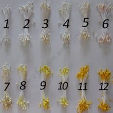 free shipping 90different colors 3mm 800pcs / lot multi-colors blue head Double Tip Floral Stamens  decoration Crafts DIY Flower(China (Mainland))
