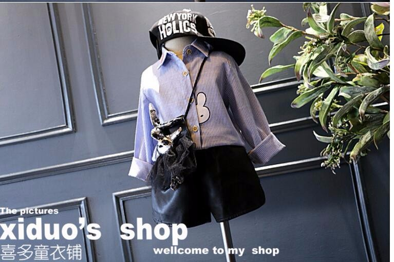 Girls Blouses White Children Clothing Girl Clothes 2016 Sping Autumn Blouses Big Kids Long Sleeve Cotton Blouse Child Shirt
