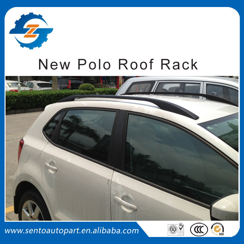 1 Pair Black color car roof side rail luggage rack fit for VW Polo(China (Mainland))