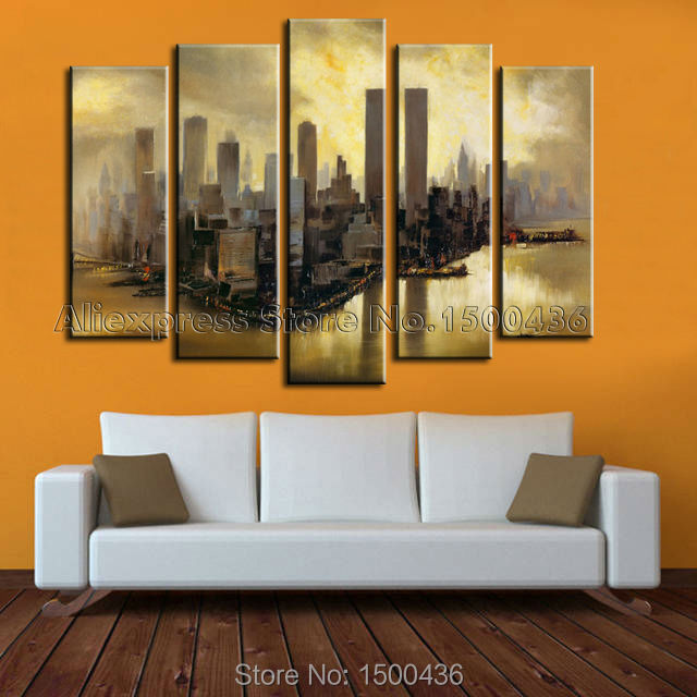Hand Painted Abstract Canvas Oil Painting Landscapes New