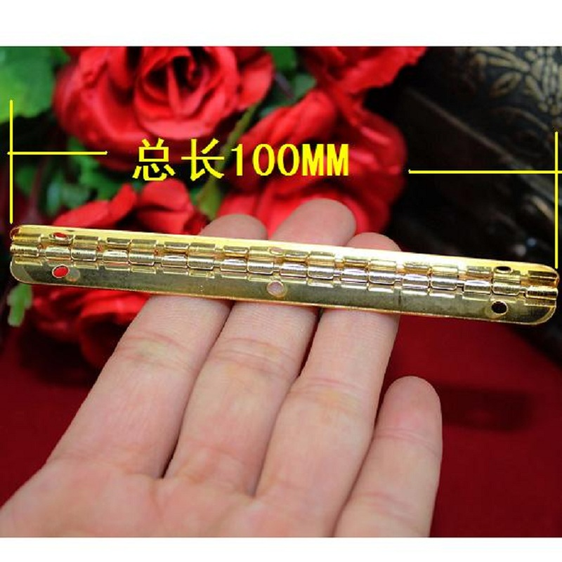 Seconds Kill Top Fasion Freeshipping 100 * 9mm Imitation Gold Hinge Strip 90 Degrees Inside Wooden Interior Support(China (Mainland))