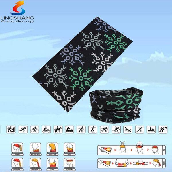 2015 ningbo LINGSHNAG LSB-0058 100% polyester multifunctional seamless outdoor neck tube bandana sale(China (Mainland))