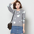 Women Polka Dot Pattern Warm Winter Sweaters 2016 Fashion Women Sweaters And Pullovers O Neck Casual
