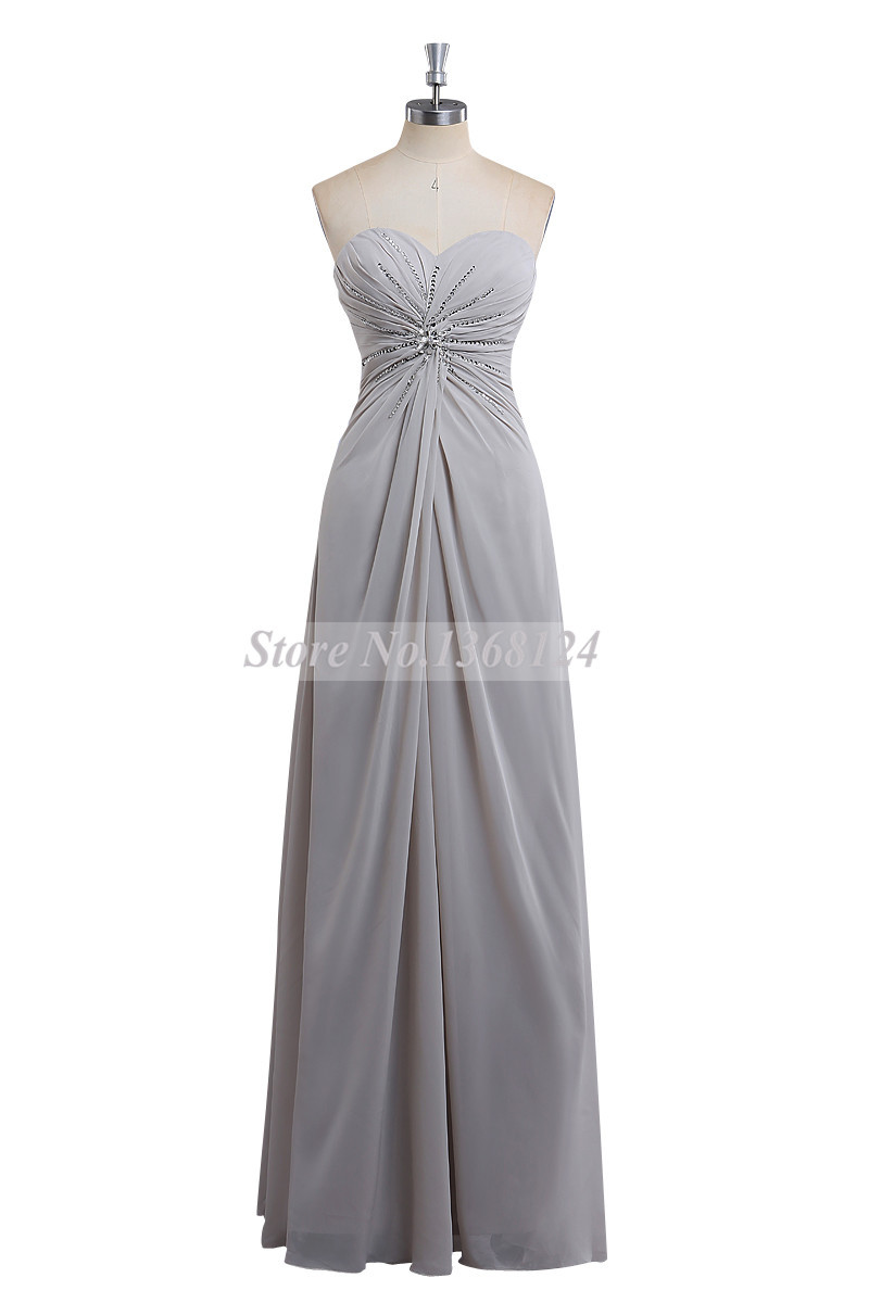 Sweetheart Beading Simple Bridesmaid Dresses 2015 A Line