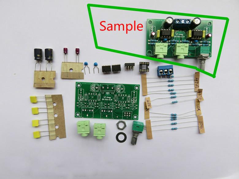 Classic 47 Headphone Amplifier Board DIY Kits NE5532 OP AMP Module(China (Mainland))