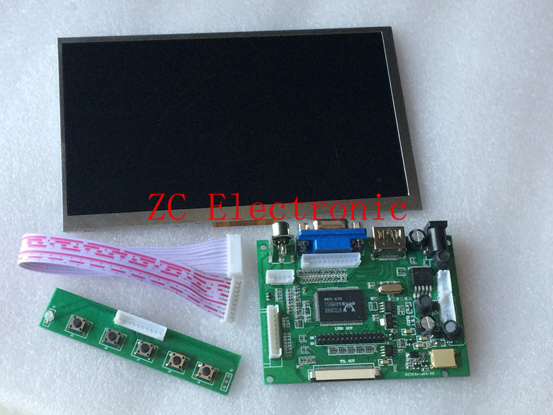 7 inch Raspberry Pi IPS LCD With HDMI VGA AV Screen Display Monitor Module For Pcduino Banana Pi 800x480 with keyboard plate(China (Mainland))