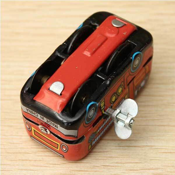 Alvisdeal Vintage Fire Chief Firefighter Car Truck Clockwork Wind Up Tin Toys(China (Mainland))