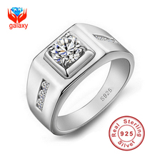 Big Promotion!!! 100% 925 Sterling Silver Men Luxury 6mm 0.85ct CZ Diamond Engagement Rings For lover's Men Wedding Rings YJ2901