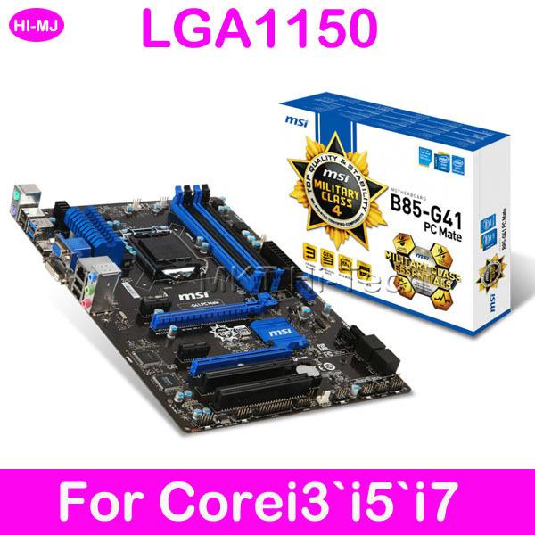 100%Original For Msi Desktop For Corei3'i5'i7 LGA1150 DDR3 B85-G41 Motherboard ATX Placa mae Mainboard Free shipping(China (Mainland))