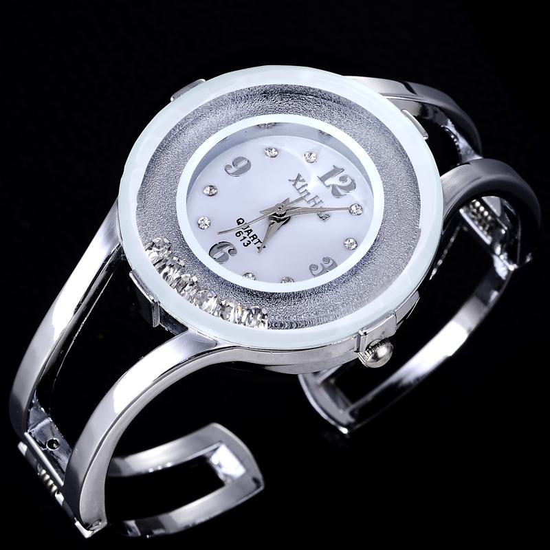 2015 Luxury Brand Watches Fashion Rhinestone Full Steel Bracelet Watch Women Casual Quartz Watch Hours Clock relogio feminino(China (Mainland))