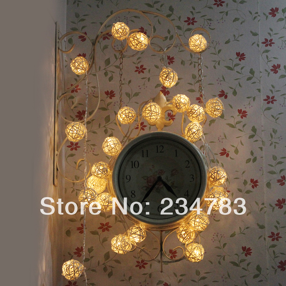 38 Led Lamps Warm White String Light Globe Fairy Lights Christmas Indoor Outdoor Party Wedding Patio Garden Decor 110V - Wishled Tech store