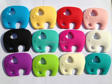 NEW! Very Large  Elephant Silicone Teething Chew Pendant or Teether Necklace pendant(China (Mainland))