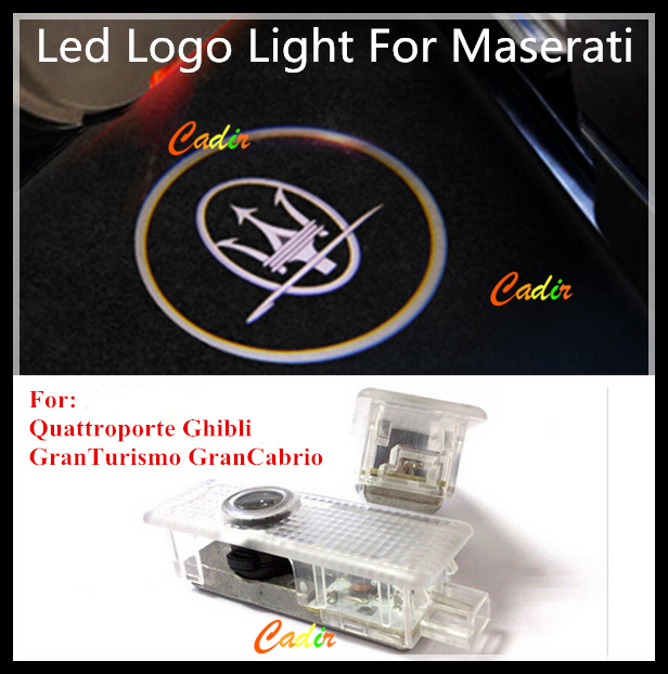 Car LED Courtesy Door Laser Projector Shadow Logo Light Maserati Quattroporte Ghibli GranTurismo GranCabrio - Cadir store