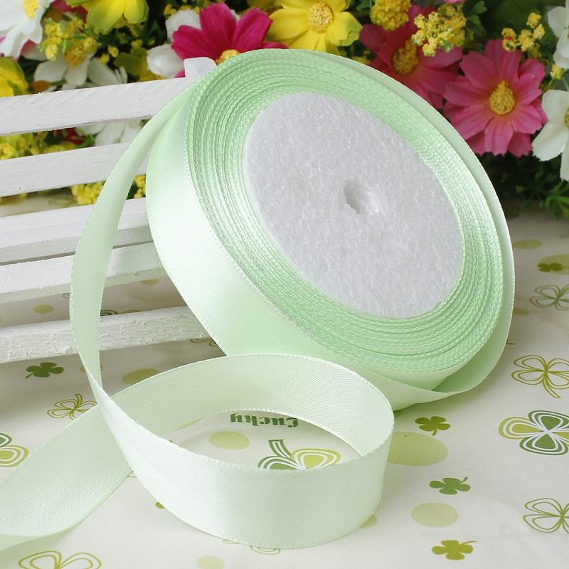 15mm Sage Satin Ribbon 25 Yards Wedding Ribbon Decorations For
