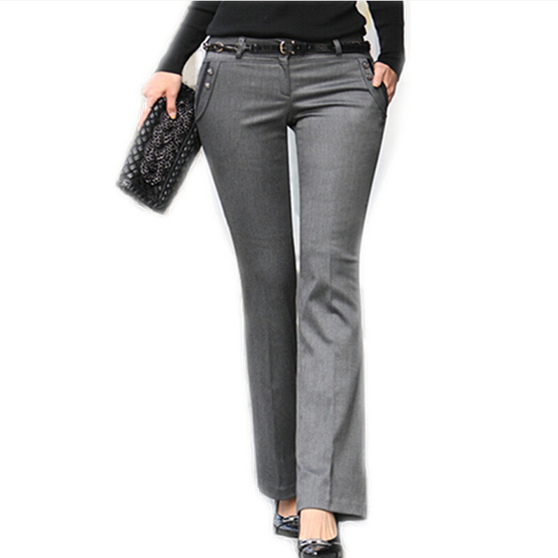 Innovative 2016 Spring Work Wear High Waist Plus Size Trousers Women Clothing