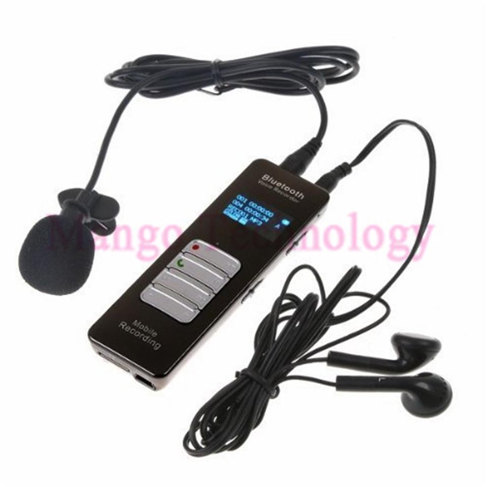 ถูก Mp3 Player 8GB Wireless Bluetooth Voice & Call Recorder for Mobile Cellphone USB Digital Voice Recorder