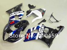 MOTO Fairing kit for SUZUKI GSXR1000 GSX-R1000 GSXR 1000 K3 03 04 2003 2004 blue black ABS Plastic Fairings set+gifts SG14(China (Mainland))