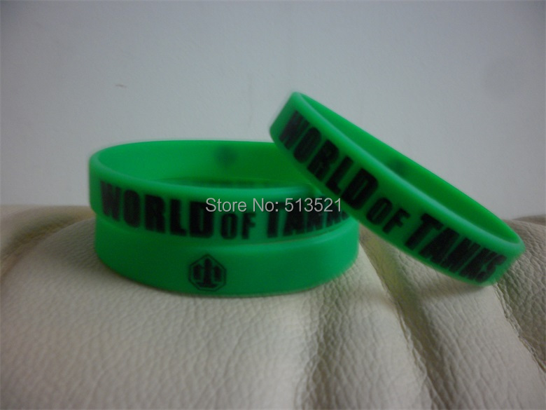 2500pcs Free Shipping Customized Personalized Printed logo Green Rubber Silicone Bracelets P032514<br><br>Aliexpress