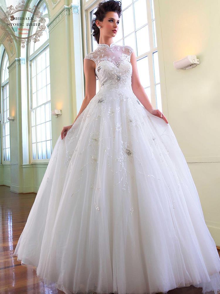 Robes De Mariée À Col Roulé Promotion-Achetez des Robes De Mariée ...