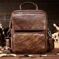 BILLETERA Vintage Retro Men Messenger Bags Genuine Leather Men Shoulder Bag Handbag Cross Body