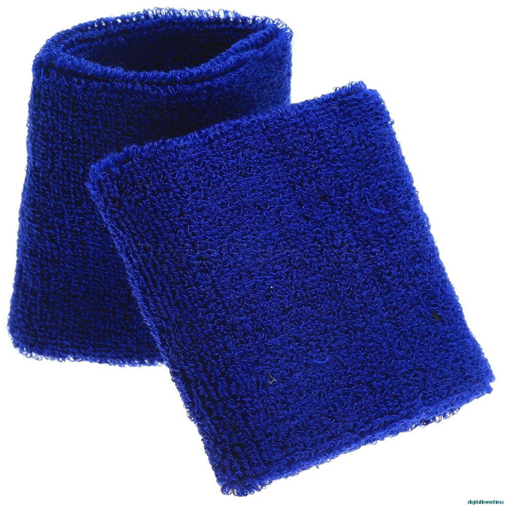 2Pcs/pair 11 Colors 8*7.5cm Unisex Cotton Sport Wrist Sweatbands Wristband Arm Sweat Band Fashion Tennis Yog Badminton Protector