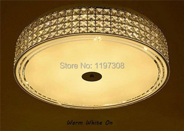 D30cm 30W D60cm 72W modern crystal glass LED ceiling lamp lighting  living room bedroom lustres de cristal remote control <br><br>Aliexpress