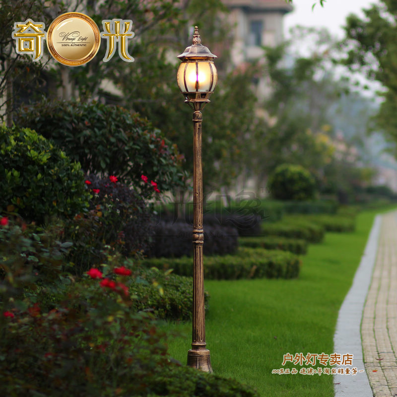 Courtyard garden lighting 220v Lamp waterproof garden decoration focos exterior post fashion street gazebo high pole lamp 1.8M(China (Mainland))