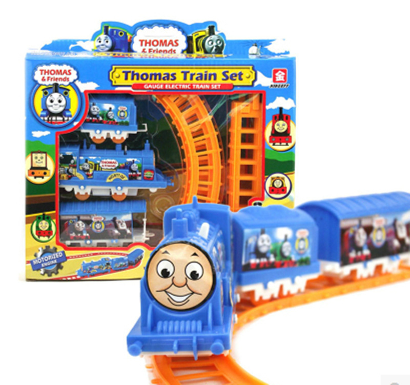 DIY Electrical 3 parts Thomas Train 8 Pcs Railway Track Slot Running funny baby Toy Child Build Kid family(China (Mainland))