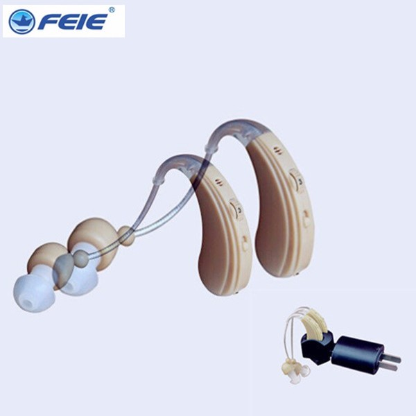 best sound mini BTE recharegable ear hearing aid hearing amplifier for old person S-109S free shipping