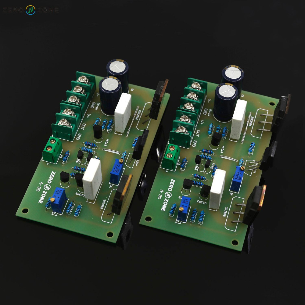 ZEROZONE A-30 Pure Class A High-Current FET Amplifier Board (2 Channle ) 30W+30W(China (Mainland))