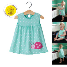 1 Year Girl Baby Birthday Princess Dress Summer Infant Children's Dresses For Kids Baptism Cotton Clothing Appliques On Clothes