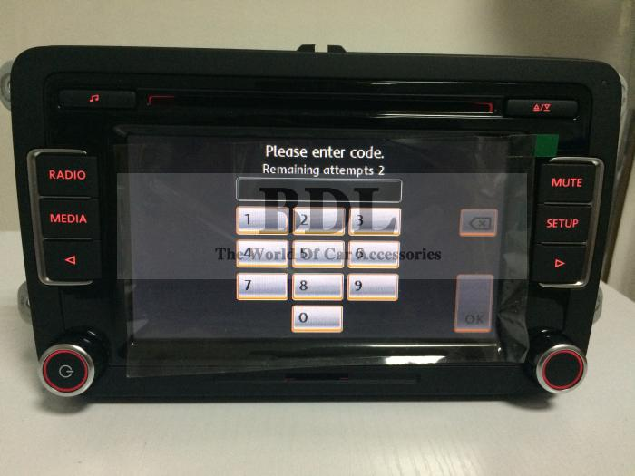 DHL Head Unit 6-CD Player Car Radio Stereo RCD510 Code USB RVC VW Golf 5 6 Jetta MK5 MK6 Passat B6 B7  -  BDL co,Ltd-The World Of Accessories store