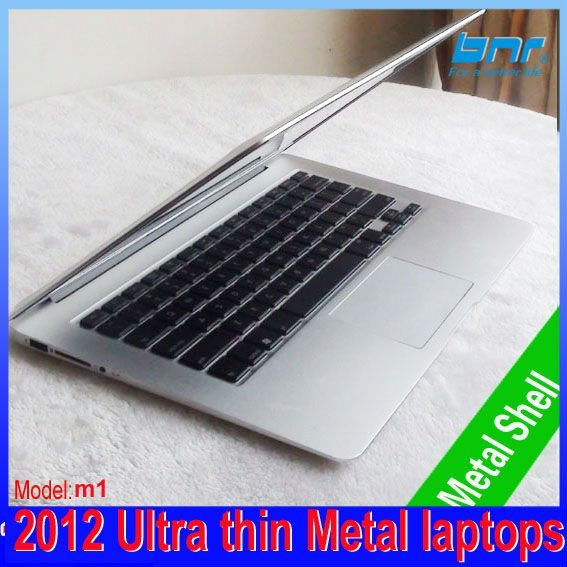 slim mini ultra thin laptop 13.3 inch netbook computer 2G DDR3 64G SSD Notebook PC Dual Core I3  windows 7 Silver Color