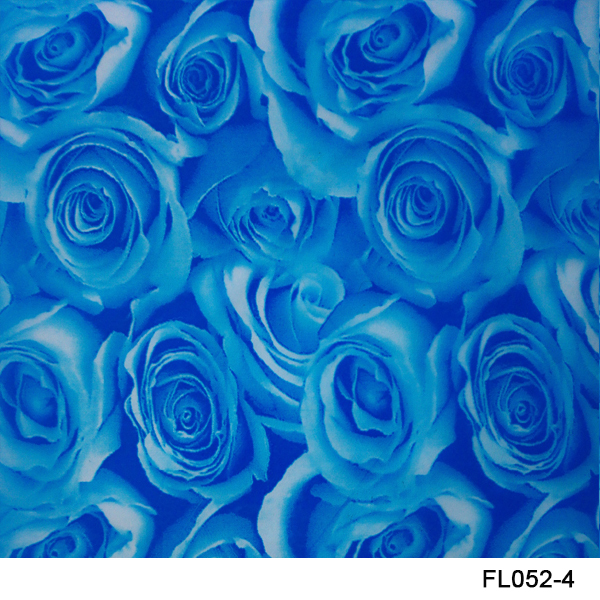 Free shipping!! FL052-4A 2square Blue rose hydrographic printing film Width 0.5m water transfer printing film(China (Mainland))