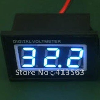 DC Blue Voltmeter 15-120V Electric Car 24V 36V 48V 60V 72V 96V Waterproof Dust-proof Shockproof Panel Meter #0004