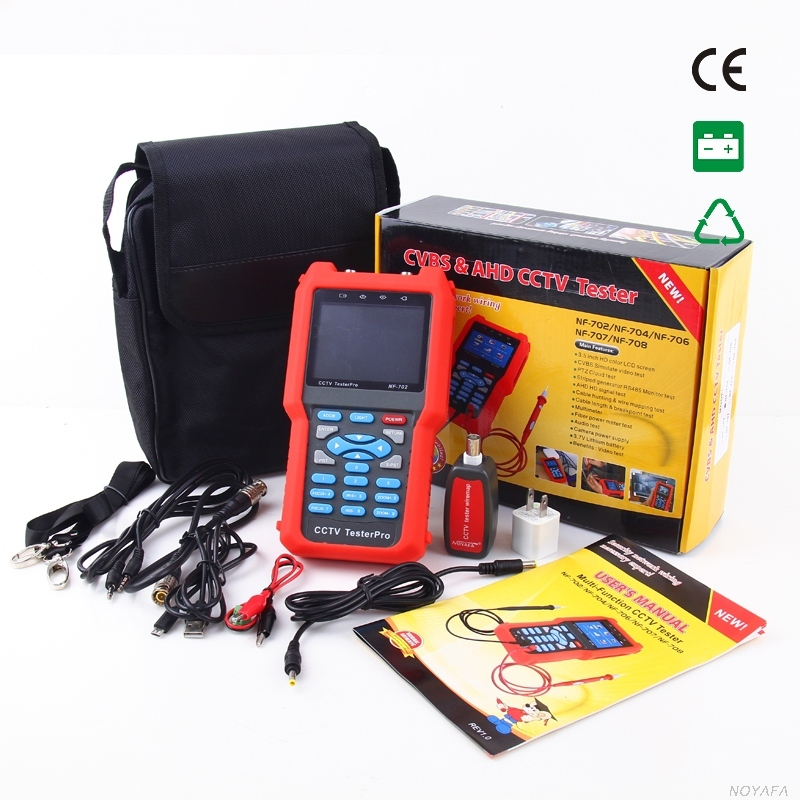 Original Noyafa NF-702 Multi-function LCD CCTV Tester Line Finder Wire Tracker Diagnose Tone Tool Kit LAN Network Cable Tester(China (Mainland))