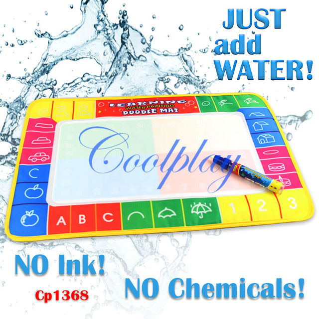 Free shipping In Stock 10pcs /Lots CP1368 45X29cm Water Doodle Mat with 1 Magic Pen Drawing Toys Mat /Aquadoodle Drawing Mat/