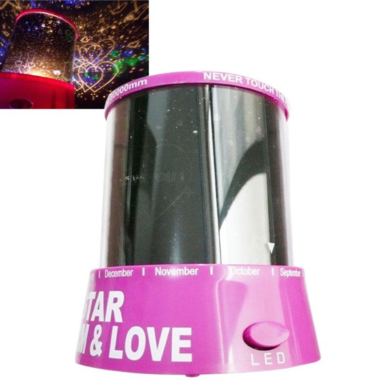Romantic Cupid Heart Night Light Star Projector Cosmos Constellation Lamp Creative Gift(China (Mainland))