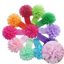 Baby Chiffon Flower Hairband Hair Accessories Baby Girls Lace Headband Infant Girl Hair Weave Band Childern