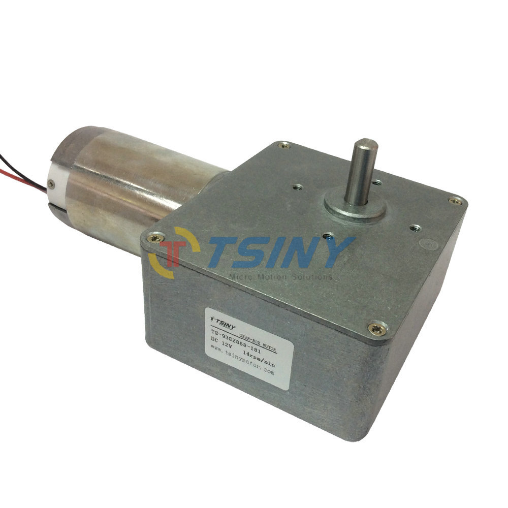 Buy Dc 12v 14rpm High Torque Worm Gear Gearbox Reductor Motor Free