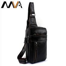 MVA Genuine Leather Men Bags Men's Crossbody Bag Men Messenger Bags Zipper Leather Phone Chest Pack Waist Small Belt Bag Man(China (Mainland))
