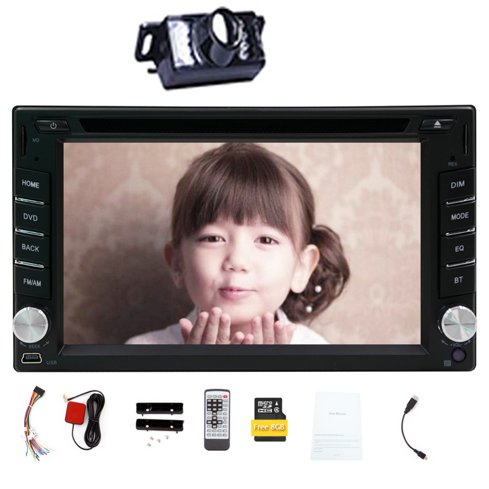 Free Camera 6.2 Iinch 2 din GPS Navigation Car DVD CD Video Player radio Touch Screen Car Stereo Audio FM AM Radio Bluetooth(China (Mainland))