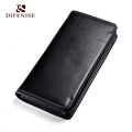 Difenise Simple Fashion Gents Authentic Leather Solid Wallets No Zipper Nappa Cowhide Leather High Quality Men